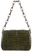 Nancy Gonzalez Crocodile Chain-Link Shoulder Bag