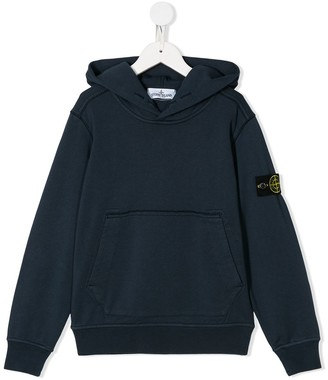 Stone Island Junior Compass-Patch Hoodie