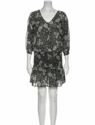 Ulla Johnson Floral Print Mini Dress Grey