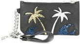 Saint Laurent Paris Fragments Sea, Sex & Sun keyring zip pouch - men - Calf Leather/Polyester - One Size