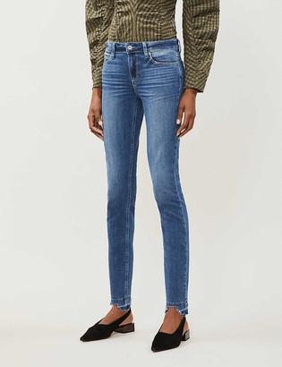 Paige Verdugo distressed skinny mid-rise stretch-denim jeans