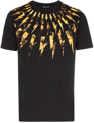 Neil Barrett Fair-isle Flame Thunderbolt T-Shirt