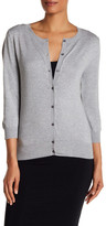 Susina Pointelle Trim Cardigan