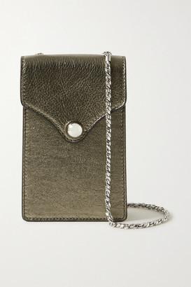 Ratio et Motus Disco Mini Metallic Textured-leather Shoulder Bag - Bronze