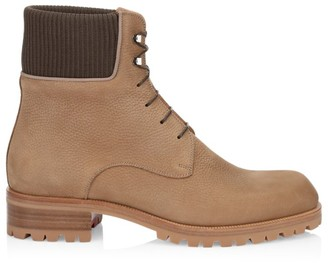 Christian Louboutin Trapman Leather Combat Boots