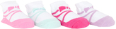 Cutie Pie Baby Pink & Aqua Ballet Slipper Four-Pair Socks Set