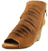 Diba Indie Women Open Toe Suede Brown Wedge Heel.