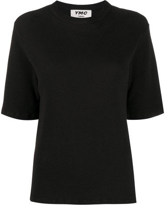 YMC ribbed cotton T-shirt