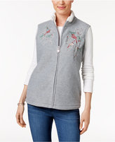 Karen Scott Petite Embroidered Vest, Only at Macy's