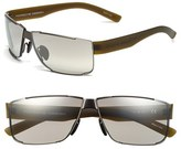 Porsche Design Men's 'P8509' 64Mm Aviator Sunglasses - Dark Gunmetal/ Blue