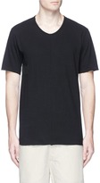 Ziggy Chen Number patch raw edge T-shirt