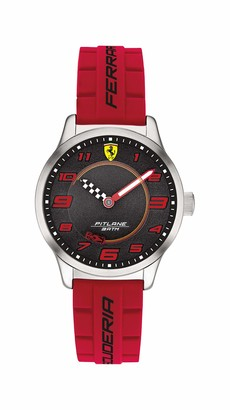 Scuderia Ferrari Kids' Pitlane Stainless Steel Quartz Watch with Silicone Strap