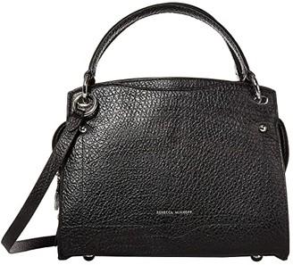 Rebecca Minkoff Val Satchel (Black) Handbags