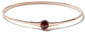 Pomellato 18kt rose gold and 18kt white gold non M'ama garnet bracelet