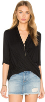 Krisa Surplice Half Sleeve Top