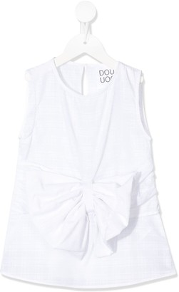 Douuod Kids Bow-Embellished Cotton Blouse