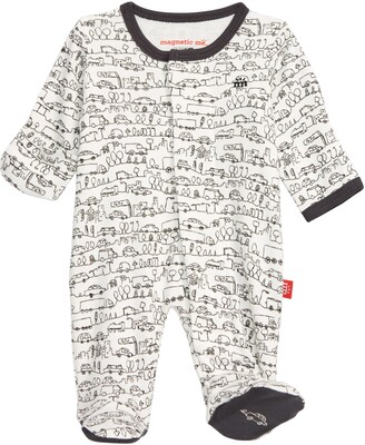 Magnetic Me Going Places Organic Cotton Footie