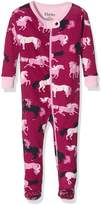 Hatley Girls' Footed Coverall