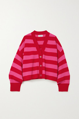 ATTICO Striped Merino Wool Cardigan - Green