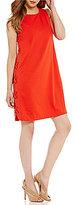 Daniel Cremieux Ava Grommet Lace-Up Shift Dress