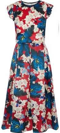 Erdem Hadley Floral-Print Silk-Gazar Dress