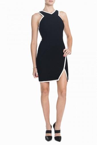 Keepsake Real Talk Dress - Black/Ivory