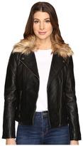 Lucky Brand Faux-Fur Moto Jacket Women's Coat