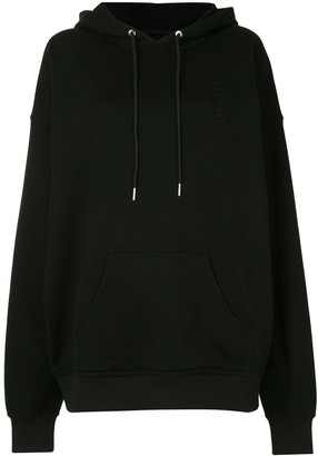 Dion Lee Embroidered Logo Cotton Hoodie