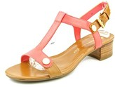 Anne Klein Ebber Women Open-toe Leather Pink Slingback Sandal.