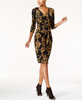 Thalia Sodi Printed Faux-Wrap Dress, Created for Macy's