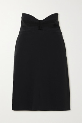 RED Valentino Grosgrain-trimmed Crepe Skirt - Black