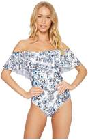 Athena Garden Party Off Shoulder Maillot Women's Swimsuits One Piece