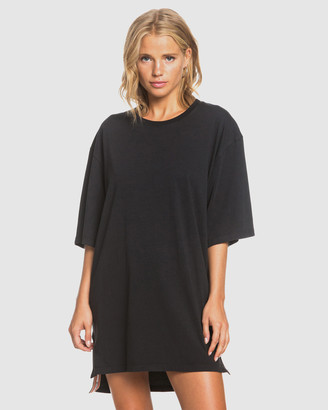 Roxy Womens Boweled Over Oversized T Shirt Dress