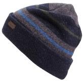 Barbour Men's Blanket Stripe Wool Beanie - Blue