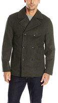 London Fog Men's Austin Double Breasted Wool Pea Coat