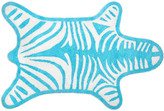 Jonathan Adler Zebra Bath Mat - Turquoise