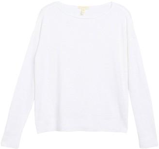 Eileen Fisher Boatneck Organic Linen Sweater (Petite)