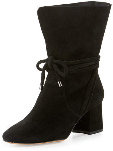 Alexandre Birman Suede 70mm Ankle-Tie Boot