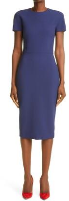 Victoria Beckham Two-Way Zip Sheath Dress