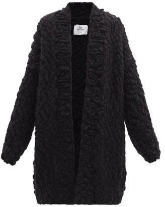 Mr. Mittens Dropped-sleeve Wool Cardigan - Black