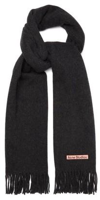 Acne Studios Canada New Fringed Wool Scarf - Black