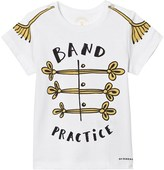 Burberry White Band Practice Print Junior Tee
