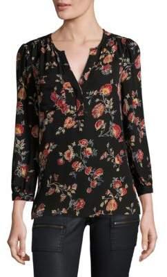 Joie Brittin Silk Floral Blouse