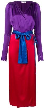 ATTICO colour block wrap dress