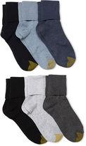 Gold Toe GoldToe 6-pk. Turn-Cuff Crew Socks - Extended Sizes