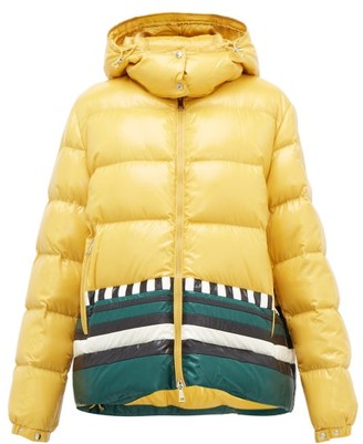 Moncler 1 Pierpaolo Piccioli - Gabrielle Striped Down-filled Jacket - Womens - Yellow Multi