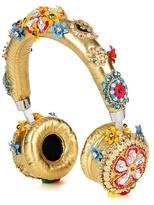 Dolce & Gabbana Exclusive to mytheresa.com – embellished metallic leather headphones