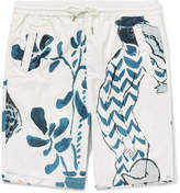 Folk Goss Brothers Alligator Printed Cotton-Twill Shorts