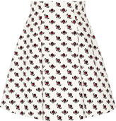 Miu Miu Printed cotton A-line mini skirt