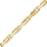 """Zales Men's Elongated Link Chain Bracelet in 14K Gold - 8"""""""